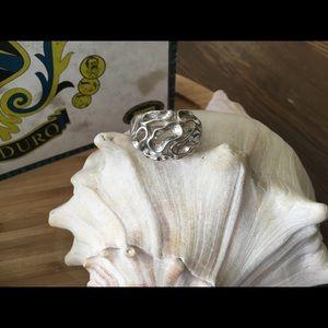 Vintage Sterling Silver Israel Modernist Ring 7